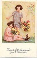 Namenstag, Kinder mit Blumen, 1929
