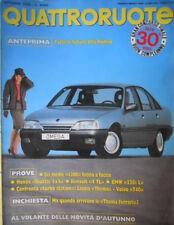 Quattroruote 372 1986 Anteprima:nuove Alfa Romeo.Prove Renault4TL Honda Shuttle