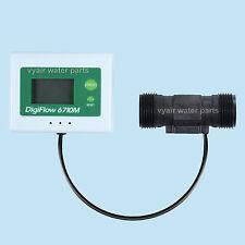 """3/4 """"LCD Compteur de Débit d'Eau Capteur 2,4 ~ 60 litres par minute compte jusqu'"""