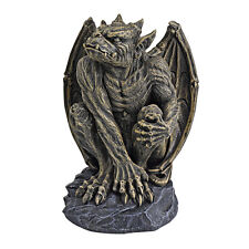 Guardian Sentinel Gargoyle Bat Wings Flared Nostrils Home Garden Statue