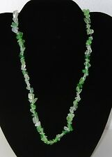 Beautiful & Exotic Natural Stone Chip 19 Inch Necklace With Gift Box