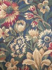 CLARENCE HOUSE Tapisserie Sully Floral Tapestry Woven France Remnant New