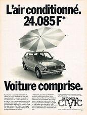 PUBLICITE  1977   HONDA CIVIC