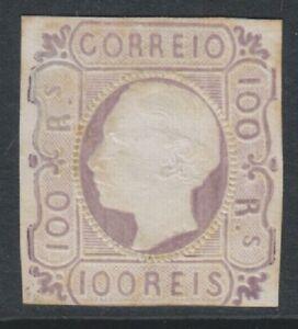 Portugal - 1864, 100r Dull Lilac - No Margins - Mint no gum - SG 34 - Cat £1300