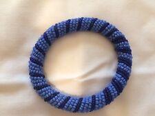 Blue Beaded Bracelet African Hand Made