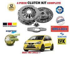 FOR SEAT Mii 1.0 2011-> NEW 4 PIECE CLUTCH KIT 5 SPEED MANUAL GEARBOX