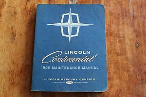 1965 LINCOLN CONTINENTAL SHOP MANUAL-EXCELLENT