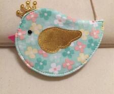 New Green Kids Baby Girls Cute Floral Birdie Cotton Messenger Shoulder Cloth Bag