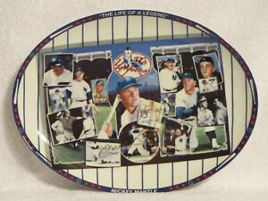 "Sports Impressions 1990 Autographed Edition Baseball Plate ""Mickey Mantle"""