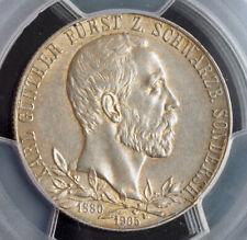 1905, Schwarzenburg-Sonderhausen, Karl Günther. Silver 2 Mark Coin. PCGS AU-58!