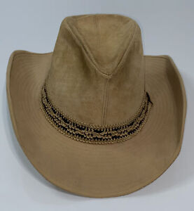 Resistol Stagecoach Ranchman Westen Leather Hat Size 7 1/8 Beautiful Condition