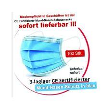 Cherish 100St. 3-lagig CE-Zertif. Mundschutz MNS Masken EN14683 Mund-Nase-Schutz