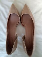 Monsoon Gold D'Orsay-Style Stiletto Shoes Size 42 (UK 8/8.5) with Pointed Toe