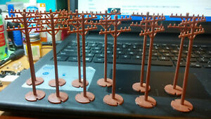 UNKNOWN MAKE,HO SCALE UTILITY POLES (12).FREE SHIPPING