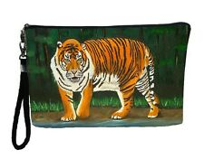 Begnal Tiger  Pouch Wristlet with detachable strap - From my orginal Painting