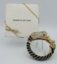 Vintage Kenneth J Lane KJL Dolphin Bracelet with Original Box