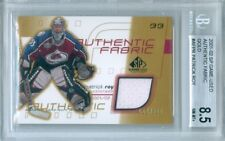 2001-02 SP GAME USED PATRICK ROY AUTHENTIC FABRIC GOLD # 008/300 BGS 8.5