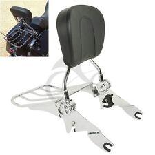 Adjustable Backrest Sissy Bar & Luggage Rack For Harley Touring Glide 2009-2018