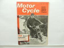 Jan 1966 Motorcycle Magazine BMW Twins Sport Calendar Supplement Suzuki L8035