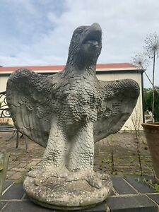 Solid Stone Flying Eagle Garden Ornament