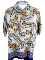 PARADISE COVE men Hawaiian ALOHA shirt M pit to pit 25 silk tropical luau tiki