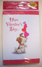 8 Hallmark Valentine greeting cards dog with heart  unopen package