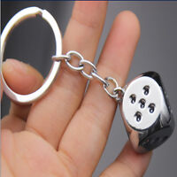 Creative Metal Dice Alloy Key Holder Pendant Keychain Key Ring for Man
