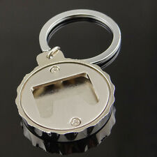Stainless Steel Beer Bottle Cap Shape Bar Opener Keyring Key Chain Wedding Party