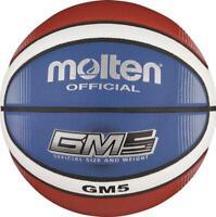 molten Basketball Trainingsball Synthetik Leder Ball Indoor Outdoor Blau Gr. 5