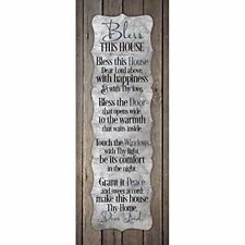 NEW Dexsa Bless This House New Horizons Wood Plaque DX8851