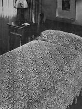 Vintage Crochet Pattern to Make Crochet Bedspread 1940's Vintage Floral  Motif