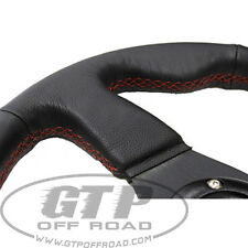 Leather steering wheel with Red Stitching + hub + quick release xp 1000 + Puller