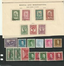 BOSNIA AND HERZEGOVINA  STAMPS FROM 1916 . FEW MINT.,NICE OVERPRINTS