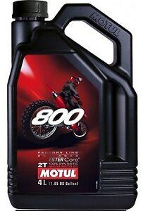 Huile MOTUL 800 moto motocross enduro quad Off Road Factory 4 litres
