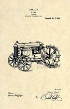 Official Henry Ford Tractor Us Patent Art Print - Vintage Antique Farming - 142