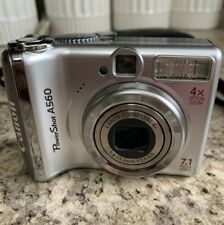 Canon PowerShot A560 7.1MP Digital Camera 4x Optical Zoom- Silver