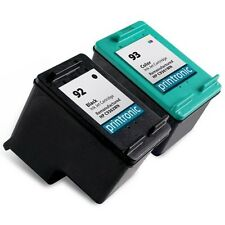 2 Recycled HP 92 93 Ink Cartridge C9362WN C9361WN PhotoSmart C3180 C4180 Printer