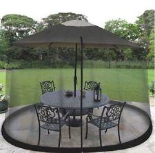 Outdoor Patio Flies Mosquitoes Insect Mesh Net 9-Ft Umbrella Table Screen Black