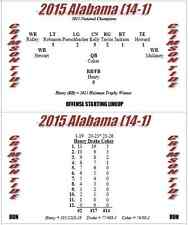 2015 College Football Season Solitaire Stat-Based Simulation Game - New