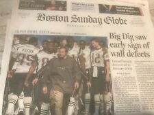 N.E. PATRIOTS VS. PHILADELPHIA EAGLES GAMEDAY- 2/6/2005 GLOBE S.B. XXXIX-39 PAPR