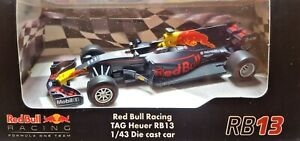 Red Bull F1 Racing: TAG Heuer RB13 1/43 Die Cast Racing Car - Perfect Detail