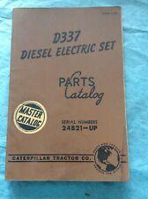 Caterpillar Cat D337 Diesel Electric Set Parts Catalog Manual Sn 24b21 Up Books