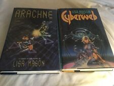 2 HC SF Books by Lisa Mason Arachne (1st Edition) & Cyberweb (1st thus) Like New