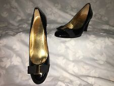 Nine West Women's Shoes Dress Emerylr Black Patent Leather SZ 6 1/2