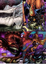 Darkchylde 1997 Krome Clearchrome Parallel Box Topper Complete Set Uncut Sheets