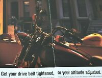 Harley Davidson Motorcycles Chrome Steel Leather 2 Page 1995 Vintage Print Ad