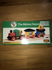 1994 Vintage BRIO Wooden Train The Mickey Express New In Box 33427 Mickey Mouse