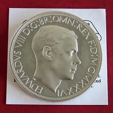 Edward viii 1936 silver proof pattern george & dragon blanchi edge crown-coa