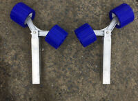 2 x 350 mm Alloy Uprights with Genuine Roller Bunk Rollers for Boat,Ski trailer.