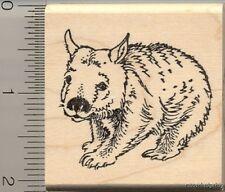 Wombat Rubber Stamp H11708 WM Wildlife